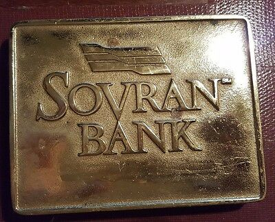 Virginia Metal Crafters Sovran Bank Solid Brass Coin Tray Key Holder VERY RARE