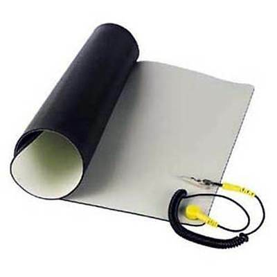 """Velleman Anti-Static ESD Mat Kit With Ground Cord 11.8"""" x 22"""" Desktop Table Roll"""