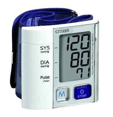 Citizen Wrist Digital Blood Pressure Monitor Ultra Slim Design Accurate Reader