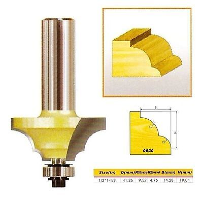 "Double Round-Over Edging Router Bit NO.1 - 1/2*1-1/8 - 1/2"" Shank -Holzfräser"