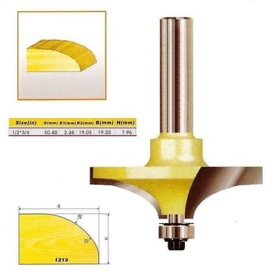 "Round Over Edging Router Bit - 1/2*3/4 - 1/2"" Shank -Holzfräser"