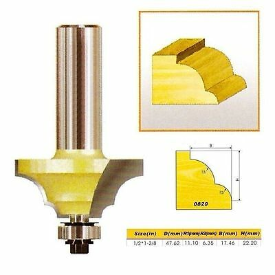 "Double Round-Over Edging Router Bit NO.1- 1/2*1-3/8 - 1/2"" Shank -Holzfräser"