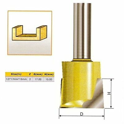 Metric Cleaning Bottom Router Bit - 1/2*17mm*15mm - 1/2'' Shank -Holzfräser