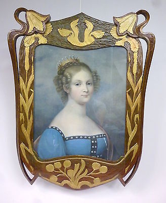 Art nouveau Frame with Lithography around 1890
