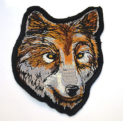 TIMBERWOLF WOLF HEAD WOLVES Embroidered Iron Sew On Cloth Patch Badge  APPLIQUE