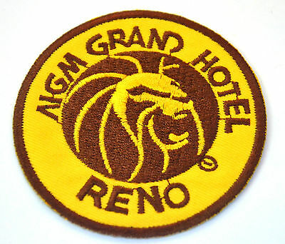 MGM GRAND HOTEL RENO CASINO Embroidered Iron Sew On Cloth Patch Badge  APPLIQUE
