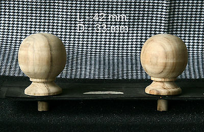 2 Wood FINIALS 42 mm for Antique Wall Clock / Barometer / Mirror / Furniture #14