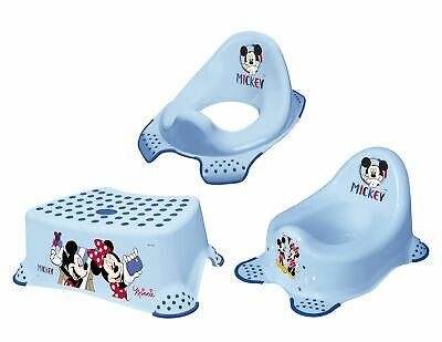 Set Of 3 Disney Micky Mouse toilet attachment + Stool New