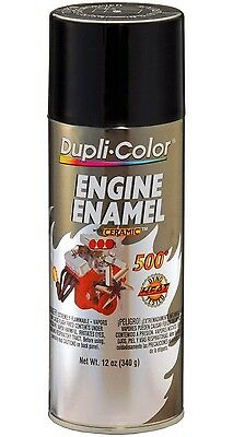 Duplicolor DE1613 Universal Gloss Black Motor Engine Spray Paint Aerosol 12oz.