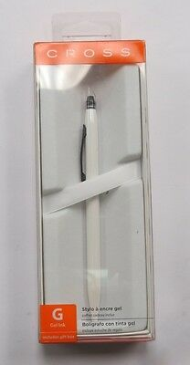 Cross AT0625S-3 Click Pearlescent White Gel Ink Pen