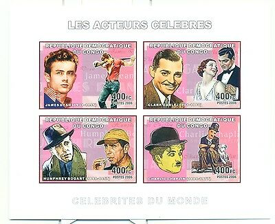 ACTORS - CONGO 2006 set imperforated