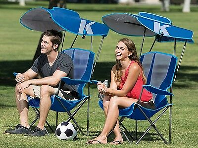 Beach Umbrella Chair Folding Canopy Cup Holder Picnic Seat Outdoor Camping Sport