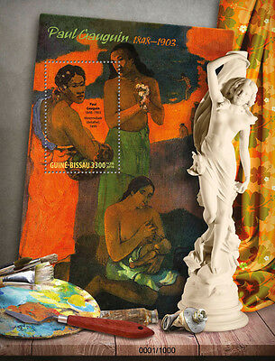 Guinea-Bissau 2016 MNH Paul Gauguin 1v S/S Maternity Nude Paintings Stamps