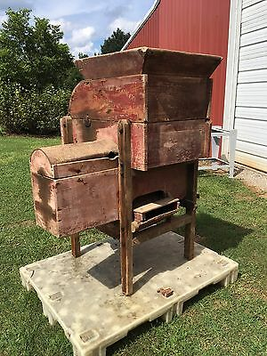 Antique John Deere Wooden Feed Crusher Hammer Mill Circa 1900's JD Hit n Miss