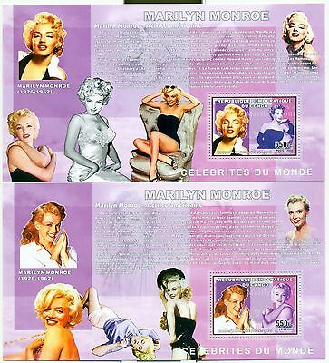 MARILYN MONROE - CONGO 2006 blocks perforated