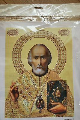St. Nicolay the Miracle-Worker orthodox icon beaded embroidery beading