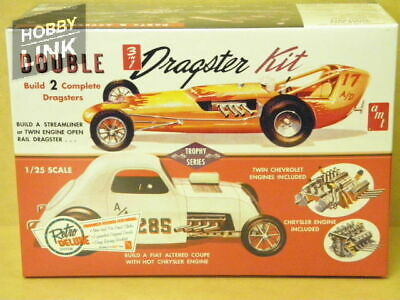 1:25 Double 3 In 1 Dragster Kit Amt Amt-646