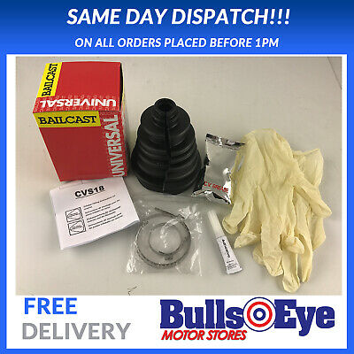 1 x UNIVERSAL SPLIT CV BOOT KIT DRIVE SHAFT BRAND NEW EASY FIT BAILCAST CVS18