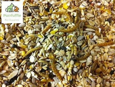 20kg ROBIN FINCH WILD BIRD FOOD FEED SEED MIX WITH MEALWORMS NO MESS ALL SEASONS