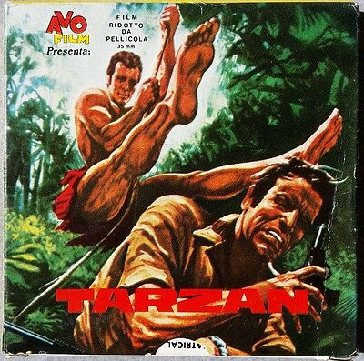 Pellicola Avo Film Tarzan Assalto al Battello Super 8  35mm Cinema Ep 2 Vintage