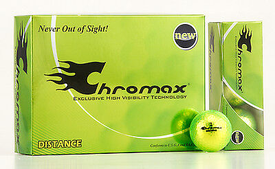 Chromax Metallic Coloured DISTANCE Golf Balls 12 Ball Pack - Can be Personalised