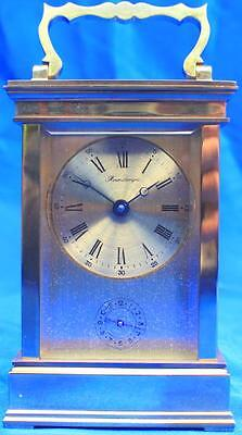 L'epee Vintage French 8 Day Alarm Timepiece Masked Dial Carriage Clock • £475.00