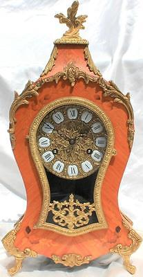 VINTAGE TWO TRAIN 8 DAY BOULLE TYPE ROCOCO MANTLE BRACKET CLOCK 47cm