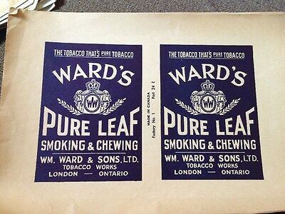 Ward's Pure Leaf Tobacco Labels London Ontario
