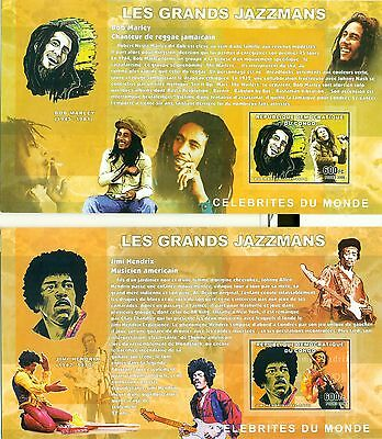 JAZZ PLAYERS - CONGO 2006 blocks imperforated