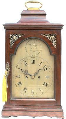 Georgian Antique English 8 Day Verge Twin Fusee Bracket Clock Thomas Cape London