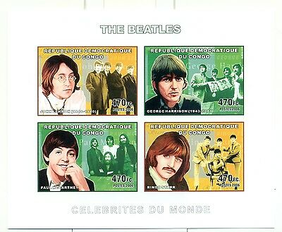 THE BEATLES - CONGO 2006 set imperforated