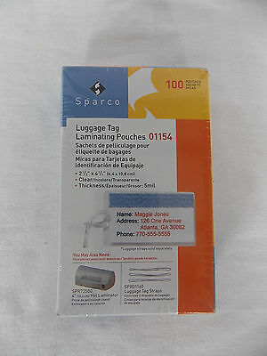 """Sparco 100 Pack Luggage Tag Laminating Pouches 2.5""""x4.25"""" - 01154"""