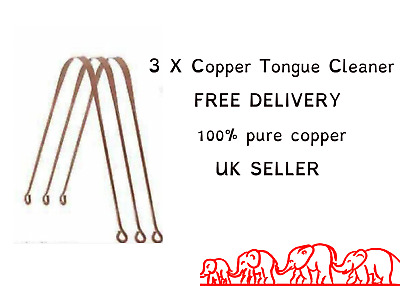 100% Copper and Aruyvedic Tongue Cleaner Scraper For Oral Hygiene Bad Breath