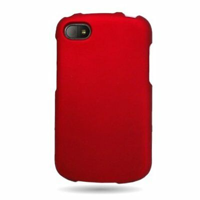 2 x Glossy Snap-On Red Plastic Hard Case Cover For Blackberry Q10 AT