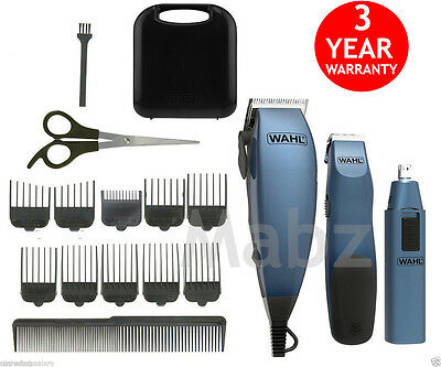 Wahl Hair Clipper Gift Set Hair Cut Machine Beard Nose Ear Trimmers Complete Kit