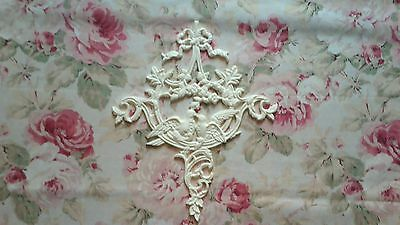 Ribbon Floral Doves Acanthus Scroll Lg Center Furniture Mount Applique Pediment