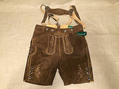 Lederhosen4u Traditional Costume Leather Pants Shorts Brown *NEW*