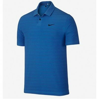 Nike Men's TW Mobility Woven Stripe Polo - Deep Royal Blue - New in Plastic!