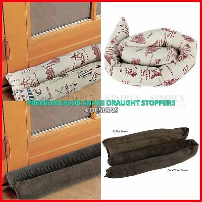 2x Handmade Door Snake Sauage Draught Draft Stopper Excluder 4 Designs