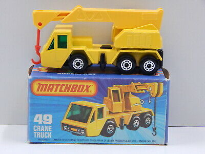 Crane Truck (Yellow with Yellow Boom) - Made in England Matchbox 49