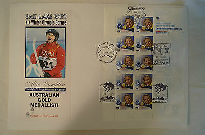 Olympic Games Collectable - Salt Lake 2002 - Gold Medal Day Cover -Alisa Camplin