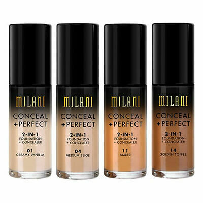 NEW MILANI-CONCEAL+PERFECT 2-IN-1 FOUNDATION+CONCEALER-VEGAN-By Milani Australia