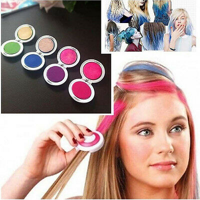 Non-toxic DIY Temporary Hair Chalk Special Color Dye Pastels Salon Kit 4 Colors