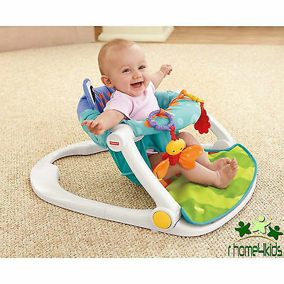 Fisher-Price Rainforest Baby Booster Chair, Child High Sit-Me-Up Floor Seat–Frog