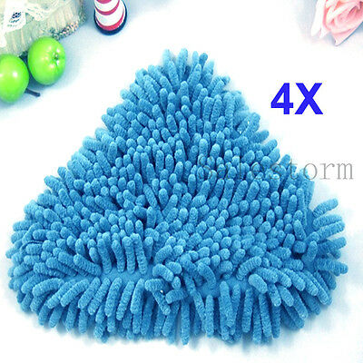 New 4x Blue Coral Washable Cloth Floor Steam Mop Pads Replacement Covers H2O X5