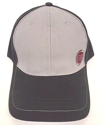 FIAT Cap Hat Black Gray Adjustable Logo 10U6E326898