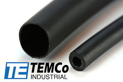 "TEMCo 3/8"" Glue Lined Marine Heat Shrink Tube 3:1 Adhesive 4 ft BLACK"