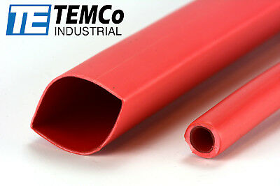 "TEMCo 3/4"" Marine Heat Shrink Tube 3:1 Adhesive Glue Lined 12"" long RED"
