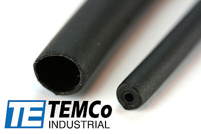 "TEMCo 3/16"" Marine Heat Shrink Tube 3:1 Adhesive Glue Lined 4 ft BLACK"