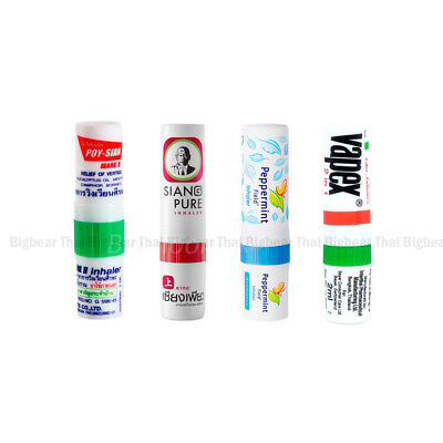 4 PCS POY SIAN PEPPERMINT SIANG PURE VAPEX Inhaler relief nasal congestion dizzy